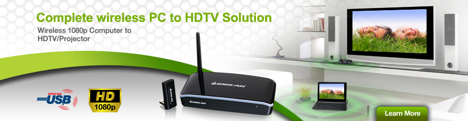 Complete wireless PC to HDTV Solution