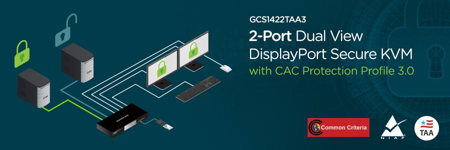IOGEAR - GCS1422TAA3 - 2-Port Dual View DisplayPort Secure