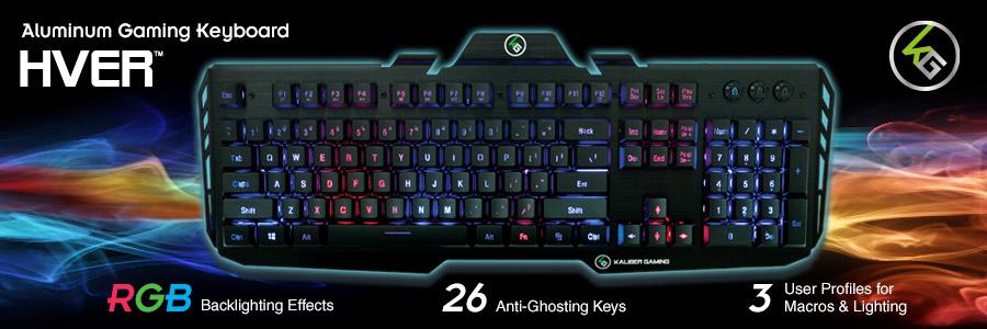 IOGEAR - GKB704RGB - HVER RGB Aluminum Gaming Keyboard