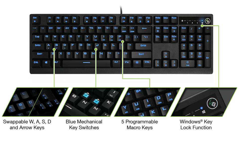 dcc14d6b6f9 Even with the high cost of mechanical key switches, Kaliber Gaming has  still managed to add LED backlight with adjustable brightness and a host of  other ...