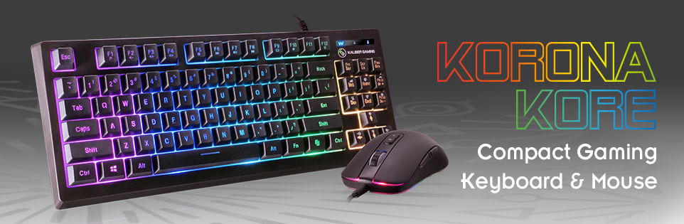 KORONA KORE RGB Gaming Keyboard and Mouse