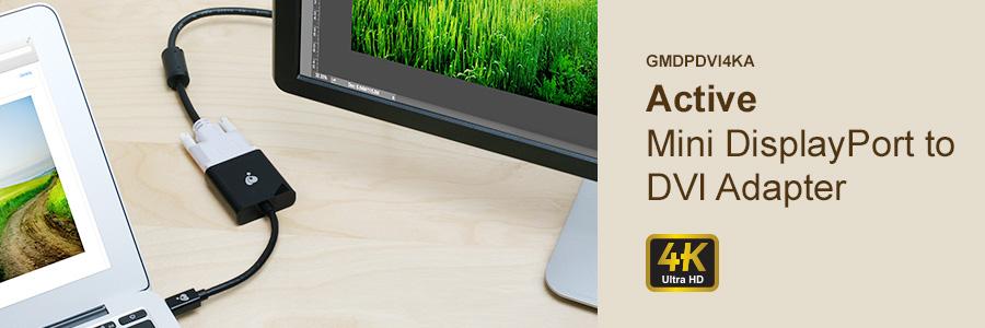 IOGEAR - GMDPDVI4KA - Active Mini DisplayPort to DVI Adapter