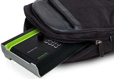 UpStream Pro in backpack