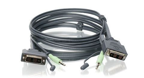6 feet (1.8m) DVI-D Video cable with Audio