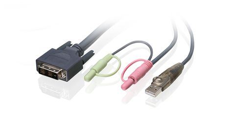 16ft (5m) Single Link DVI-D USB KVM Cable