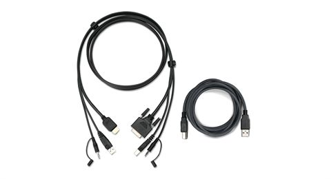 6ft HDMI to DVI, USB KVM Cable Kit with Audio (TAA)