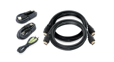 6ft Dual View HDMI, USB KVM Cable Kit with Audio (TAA)