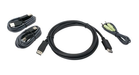 6 Ft. DisplayPort, USB KVM Cable Kit with Audio (TAA)