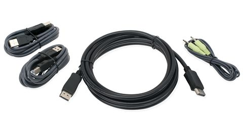 10 Ft. DisplayPort, USB KVM Cable Kit with Audio (TAA)