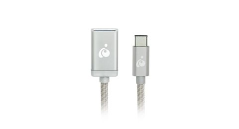 Charge & Sync USB-C™ to USB Type-A Adapter - Silver