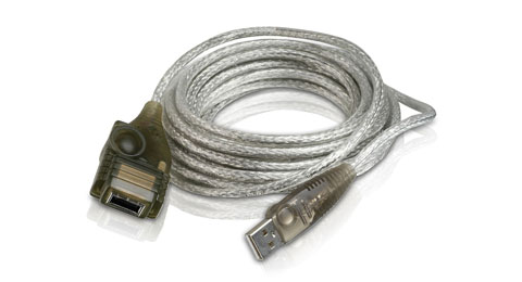 USB 1.1 A-A Booster Extension Cable - 16ft