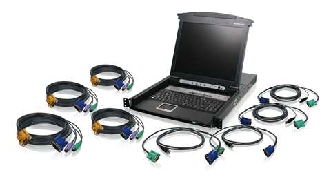 8-Port LCD Combo KVM Switch with Cables