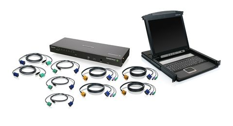 8-Port IP Based KVM and 17 LCD KVM Console Bundle
