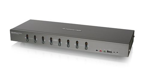 8-Port DVI KVMP switch with VGA support (TAA Compliant)