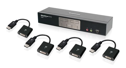 4-Port Dual-Link DVI and DisplayPort KVMP Kit with 2.1 Audio (TAA Compliant)