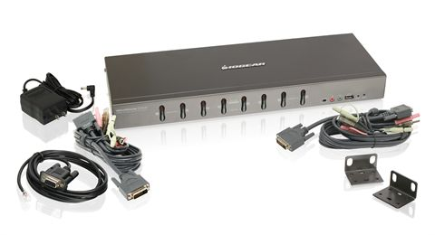 8-Port Dual-Link DVI KVMP Switch with VGA Support (TAA Compliant)