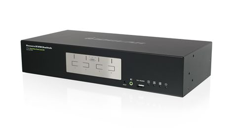 4-Port Dual View Dual-Link DVI Secure KVM Switch (TAA)