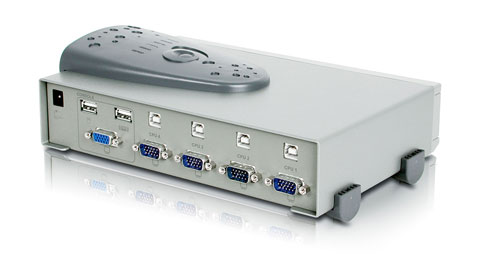 4-Port MiniView™ II USB KVM with cables