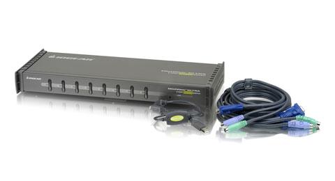 Kit, 8-Port KVM Switch w/cables/PS2&USB