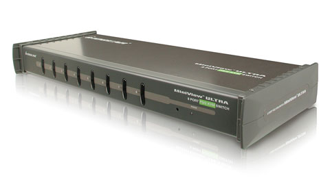 8-Port MiniView™ Ultra KVM Switch