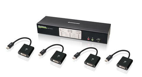 2-Port Dual-Link Dual View DVI and Mini DisplayPort KVMP Kit (TAA Compliant)