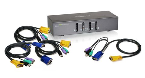 4 Port VGA KVM Switch, PS2 and USB