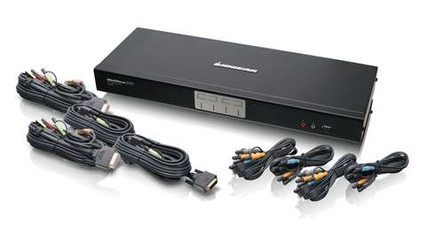 4-Port Dual-Link DVI KVMP Switch with 7.1 Audio and Cables (TAA Compliant)