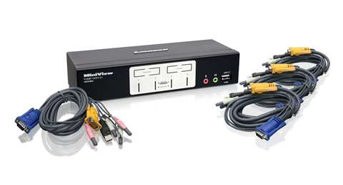 4 Port KVMP Switch with USB 2.0 Hub and Audio