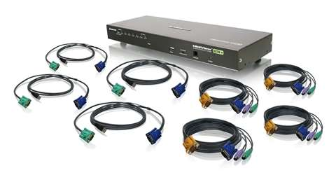 8-Port USB PS/2 Combo VGA KVM Switch with Cables (TAA Compliant)