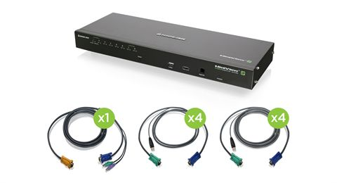 8-Port IP Based KVM Kit with USB KVM Cables (TAA)