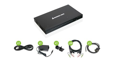 16-Port USB HDMI KVMP Switch with USB Cable Sets (TAA Compliant)