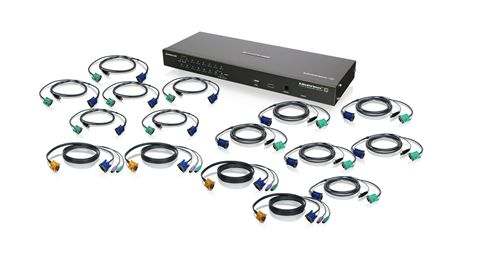 16-Port IP Based KVM Kit with PS/2 and USB KVM Cables