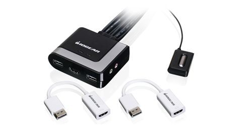 2-Port HDMI and DisplayPort Cable KVM Kit