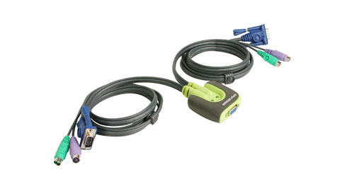 MiniView™ Micro PS/2 KVM Switch with cables
