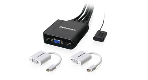 2-Port USB VGA and Mini DisplayPort Cable KVM Kit
