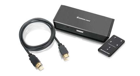 4-Port HDMI Automatic Switch with Remote and HDMI Cable