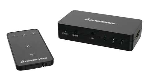 3-Port HD Audio/Video Switch with Remote