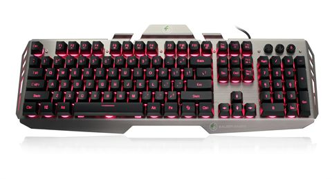 Kaliber Gaming HVER Aluminum Gaming Keyboard - Black/Gray