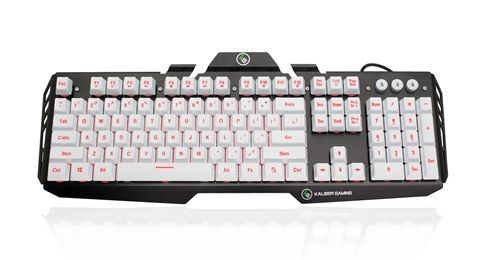 IOGEAR HVER Aluminum 104-Key Computer Keyboard - Imperial White