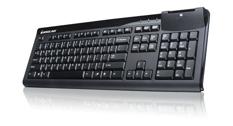 104-Key Keyboard w/Built-in Common Access Card Reader