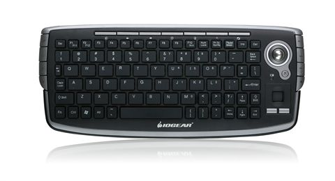 2.4GHz Wireless Compact Keyboard with Optical Trackball and Scroll Wheel (French)