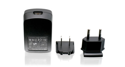 1A USB Power Adapter w/US & EU Plugs