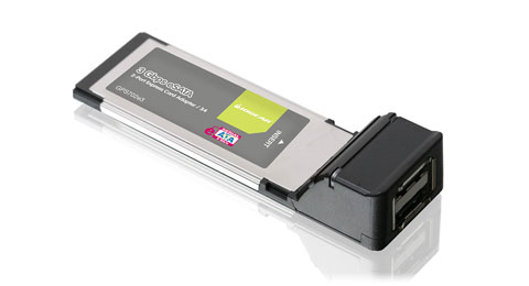 eSATA 3Gbps 2-port ExpressCard/34