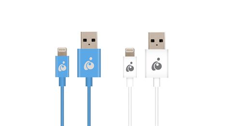 Charge & Sync Flip 3.3ft (1m) - Reversible USB to Lightning Cable (Blue and White Pack)