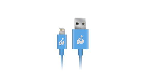 Charge & Sync Flip 3.3ft (1m) - Blue, Reversible USB to Lightning Cable