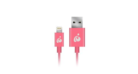 Charge & Sync Flip 3.3ft (1m) - Pink, Reversible USB to Lightning Cable