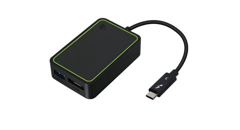 Thunderbolt 3 to eSATA and USB Adapter