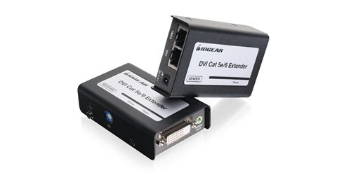DVI-D CAT5e/6 Extender with Stereo Audio