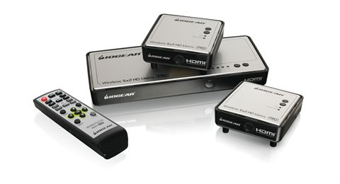Long Range Wireless 5x2 HDMI Matrix PRO with 1 Additional Receiver