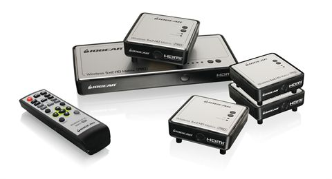 Long-Range Wireless Video 5x2 Matrix PRO with 4 Receivers
